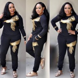Africa-Women-Winter-Handmade-Beading-Sequined-Pattern-Long-Sleeve-Knitted-Pullover-Tops-Trousers-2PCS-Clothing-Sets