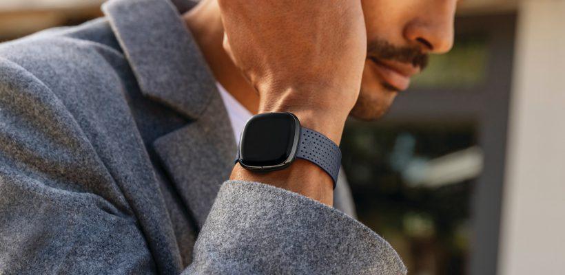 Lifestyle photo of Fitbit Sense.
